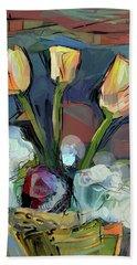 Three Tulips Bath Towel
