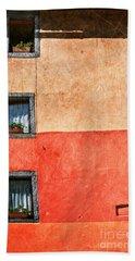 Three Vertical Windows Bath Towel by Silvia Ganora