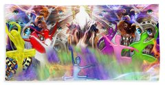 Bath Towel featuring the digital art Throneroom Dance by Dolores Develde