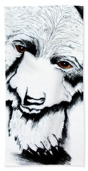 Through The Bears Eyes Hand Towel