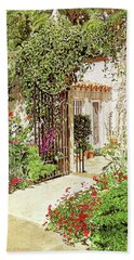 Through The Garden Gate Hand Towel