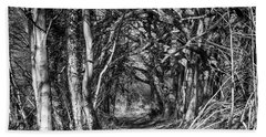 Through The Tunnel Bw 16x20 Hand Towel