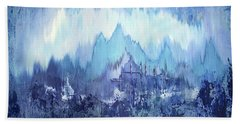 Bath Towel featuring the painting Through To Stillness by Shadia Derbyshire