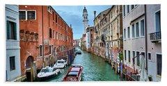 Through Venetian Canals Bath Towel