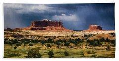 Thunderstorms Approach A Mesa Bath Towel