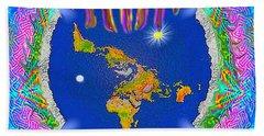 Y H W H Creation Mandala Flat Earth Hand Towel
