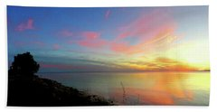 Sunset At Tibbetts Point Light, 2015 Hand Towel