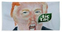 Tic Tac Trump Bath Towel