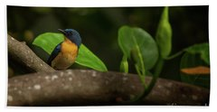 Tickell's Blue Flycatcher Bath Towel