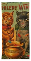 Tiddledy Winks Funny Victorian Cats Hand Towel