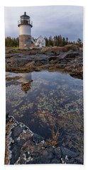 Tide Pools At Marshall Point Lighthouse Bath Towel