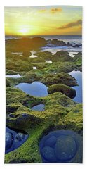 Hand Towel featuring the photograph Tide Pools At Sunset by Tara Turner