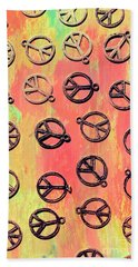Tie-dye Peace Pendants Hand Towel