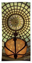Tiffany Ceiling In The Chicago Cultural Center Hand Towel