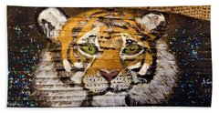 Tiger Bath Towel by Ann Michelle Swadener