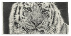 Tiger Drawing Hand Towel