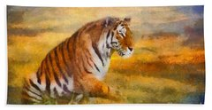 Tiger Dreams Bath Towel by Aimelle