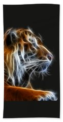 Tiger Fractal 2 Bath Towel