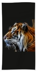 Tiger Fractal Bath Towel