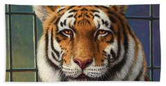 Tiger In Trouble Hand Towel