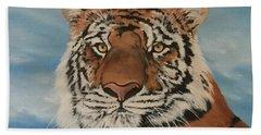 Bengal Tiger Bath Towel by Jean Walker