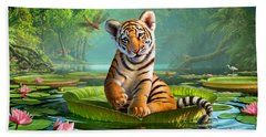 Tiger Lily Hand Towel by Jerry LoFaro