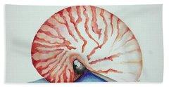 Tiger Nautilus Seashell Bath Towel