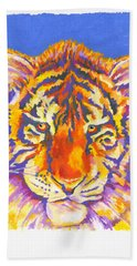 Bath Towel featuring the painting Tiger by Stephen Anderson