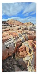 Tiger Stripes In Valley Of Fire Bath Towel by Ray Mathis