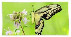Tiger Swallowtail Butterfly Bath Towel