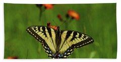 Tiger Swallowtail Butterfly Hand Towel by Nancy Landry