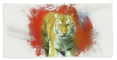 Tiger Two Bath Towel by Suzanne Handel
