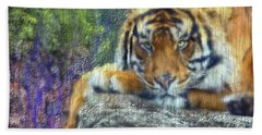 Tigerland Hand Towel by Michael Cleere