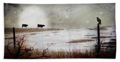 Bath Towel featuring the photograph 'til The Cows Come Home by Theresa Tahara