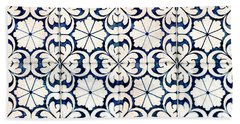 Tiles Souvenir Lisbon Bath Towel