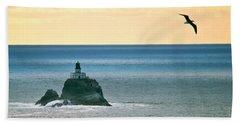 Tillamook Lighthouse Bath Towel by Suzette Kallen