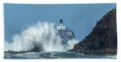 Tillamook Rock Light House, Oregon - Terrible Tilly Bath Towel
