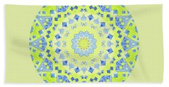Tilted Order Circle Bright Bath Towel by Lori Kingston