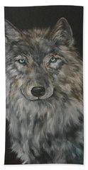 Timber Wolf Bath Towel by Jean Walker