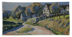 Timbered Houses In Terziet Hand Towel