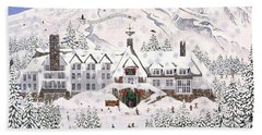 Bath Towel featuring the painting Timberline Lodge by Jennifer Lake