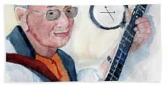 Bath Towel featuring the painting Time Flies by Sandy McIntire