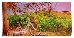 Hand Towel featuring the photograph Time For Beach Fun by Debra and Dave Vanderlaan
