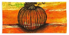 Time To Get Pumkin Hand Towel