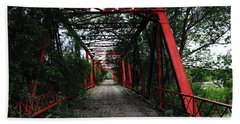 Hand Towel featuring the photograph Time's Forgotten Walking Bridge by Natalie Ortiz