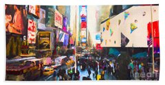 Times Square Hand Towel by Chris Armytage