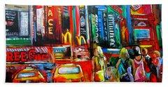 Times Square Bath Towel by Ken Pridgeon