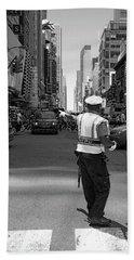 Times Square, New York City  -27854-bw Bath Towel by John Bald