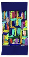 Times Square Nighttime Hand Towel by Brenda Pressnall