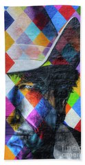 Times They Are A Changing Giant Bob Dylan Mural Minneapolis Detail 3 Bath Towel